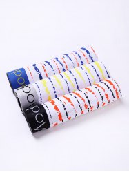 Cherlamode 3PCS Color Block Stripe Pattern Boxer Briefs For Men - COLORMIX