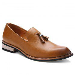 Vintage Height Increasing and Tassels Design Formal Shoes For Men