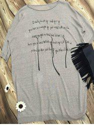 Short Sleeve Letter Print Loose-Fitting T-Shirt -
