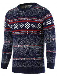 Snowflake Pattern Round Neck Long Sleeve Sweater For Men - CADETBLUE 2XL