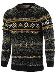 Snowflake Pattern Round Neck Long Sleeve Sweater For Men -