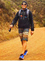 Lace Up Printed Boardshorts For Men -