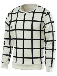 Plaid Round Neck Long Sleeve Pullover T-Shirt For Men -