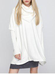 Oversized Turtleneck Tunic Sweater