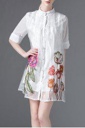 Embroidered Organza Dress -
