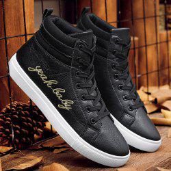 Fashion Lace-Up and Letter Print Design Casual Shoes For Men -