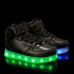 Fashion Tie Up and Lights Up Led Luminous Design Casual Shoes For Boy -