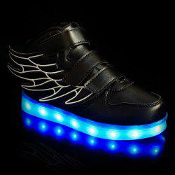Stylish Lights Up Led Luminous and Wing Design Casual Shoes For Boy -