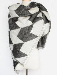 Houndstooth Fringed Edge Shawl Wrap Scarf -