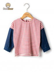 Stylish Color Block Striped T-Shirt -
