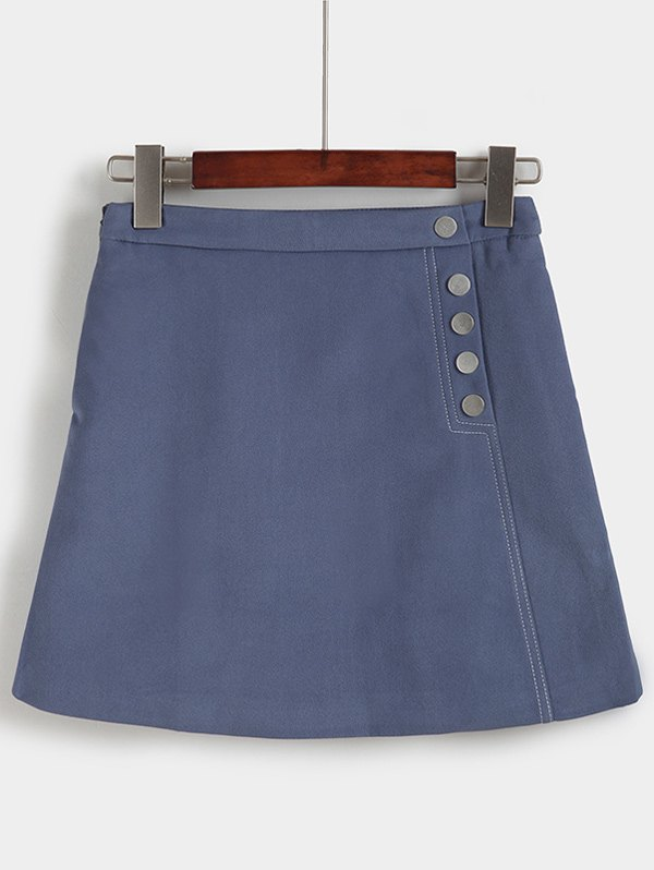 Unique Trendy High-Waisted Pocket Design Slimming Women's Skirt