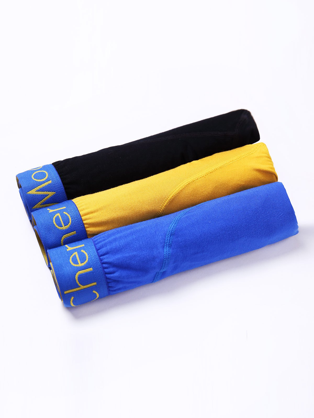 Shops Cherlamode (Three Color) 3PCS U Pouch Hem Design Boxer Briefs For Men