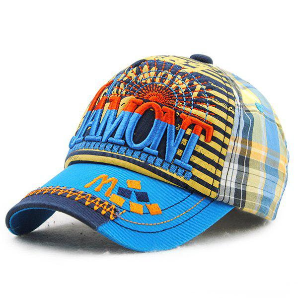 Trendy Stylish Letters Embroidery Stripe and Tartan Pattern Baseball Hat For Kids