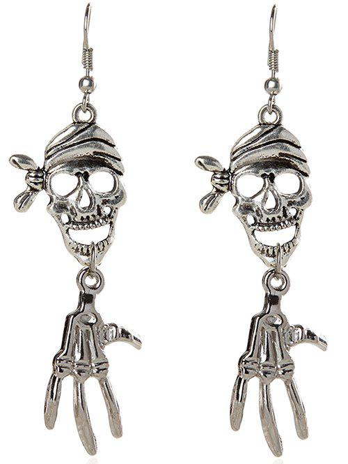 Fancy Pair of Halloween Pirate Skull Earrings