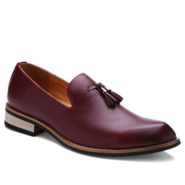 Store Vintage Height Increasing and Tassels Design Formal Shoes For Men