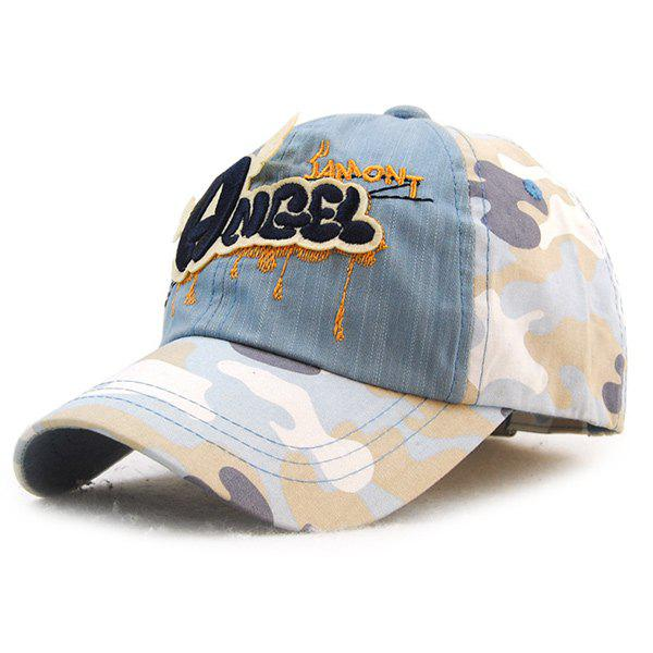 Latest Stylish Letters Embroidery Camouflage Pattern Baseball Hat For Kids