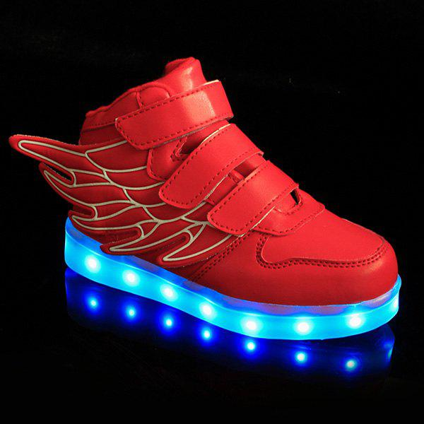 Sale Stylish Lights Up Led Luminous and Wing Design Casual Shoes For Boy