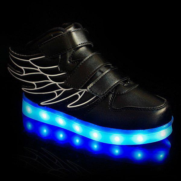 Buy Stylish Lights Up Led Luminous and Wing Design Casual Shoes For Boy