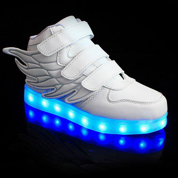Store Stylish Lights Up Led Luminous and Wing Design Casual Shoes For Boy