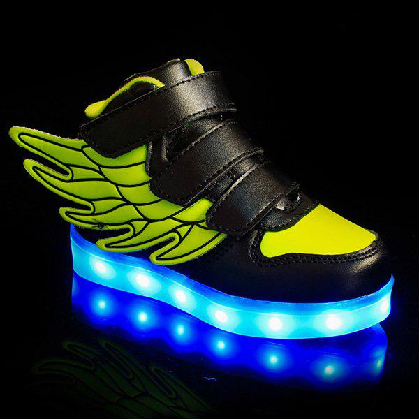 New Stylish Lights Up Led Luminous and Wing Design Casual Shoes For Boy
