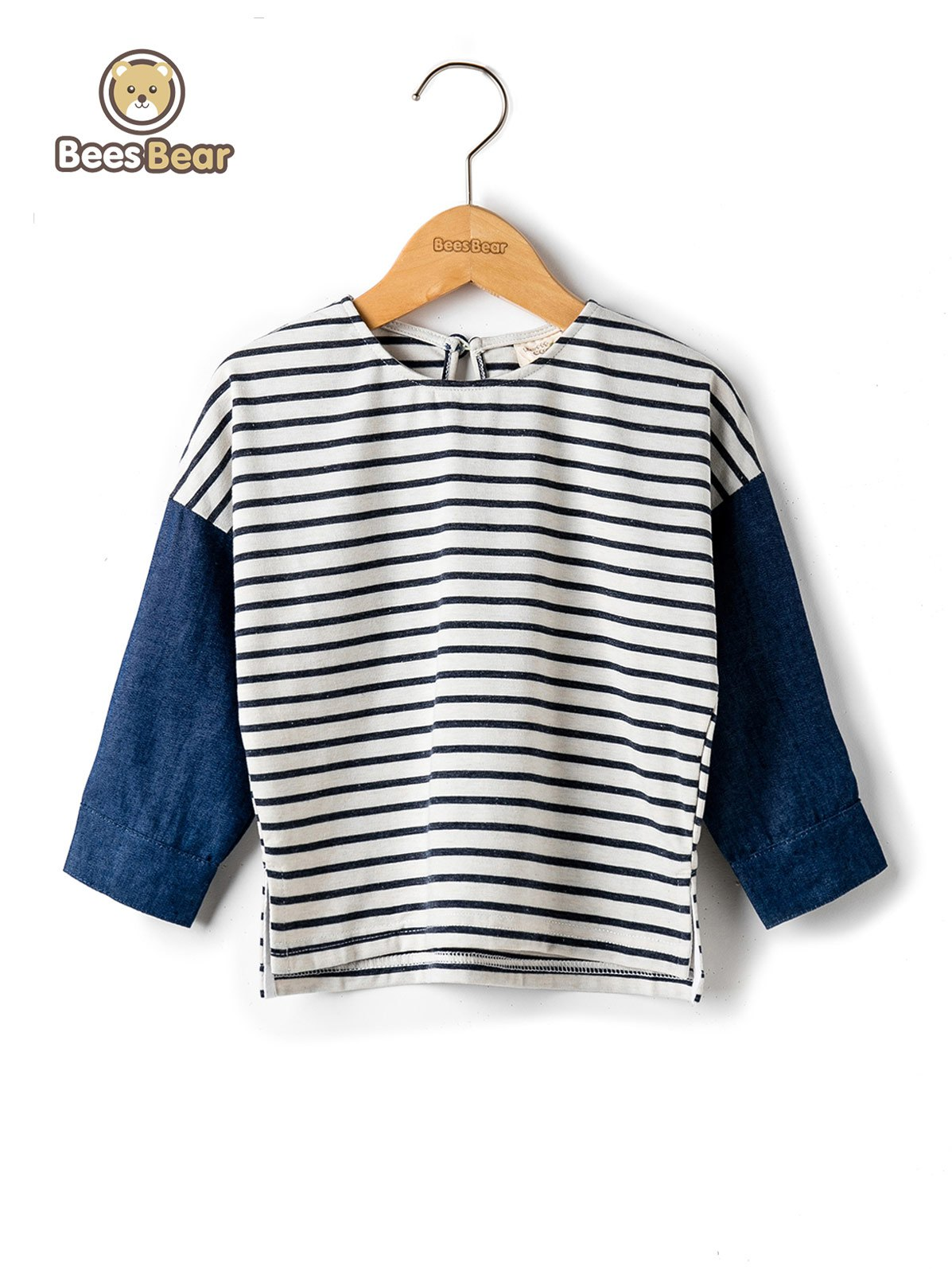 Discount Stylish Color Block Striped T-Shirt