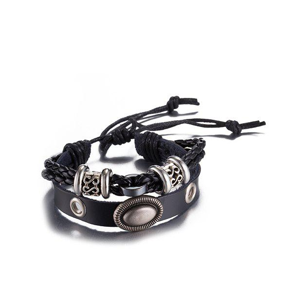 Outfits Gothic Style Faux Leather Adjustable Bracelet