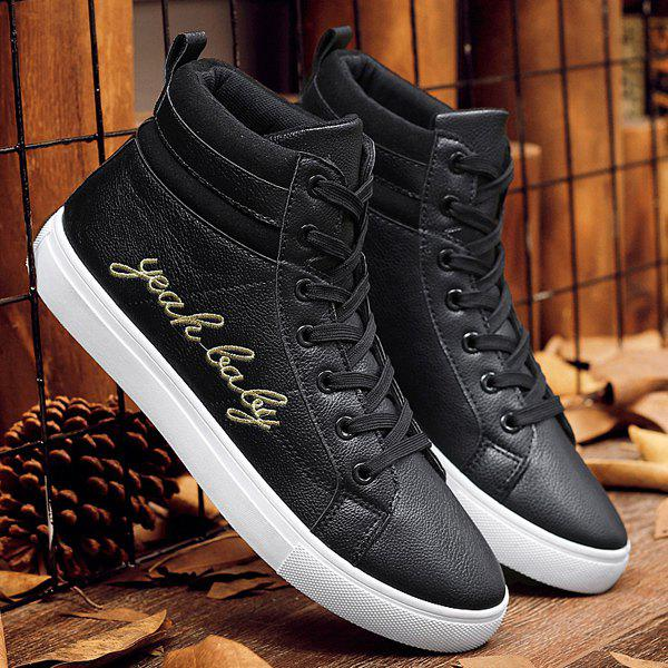 Buy Fashion Lace-Up and Letter Print Design Casual Shoes For Men