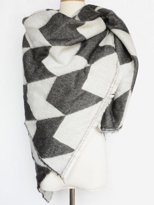 Cheap Houndstooth Fringed Edge Shawl Wrap Scarf