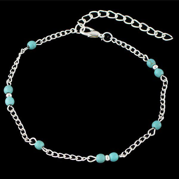 Latest Bohemian Style Faux Turquoise Beaded Anklet