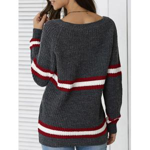 Striped Hit Color Pullover Sweater