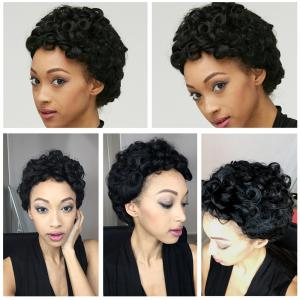 Adiors Short Shaggy Curly Synthetic Wig