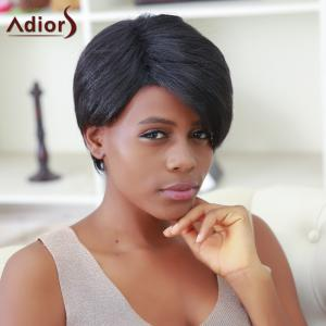 Short Boy Cut Side Bang Capless Synthetic Wig