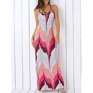 Printed Pattern Summer Long Slip Dress
