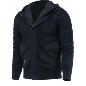 Pockets Design Hooded Sweater Coat