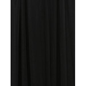 Pleated Tulle Pure Color Gown Midi Skirt - BLACK ONE SIZE