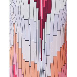 Printed Pattern Summer Long Slip Dress - LIGHT PINK S