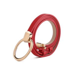 Ring Buckle Belt - Red