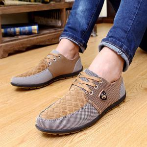 Lace Up Color Block Casual Shoes -