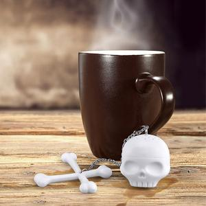 Kitchen Tool Skull Cross Shape Silica Gel Tea Brewing Apparatus -