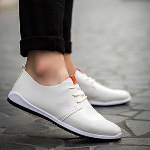 Concise lacets et PU cuir design Souliers simple d'homme -
