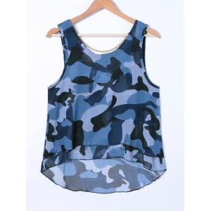 Chain Camouflage Print Tank Top -