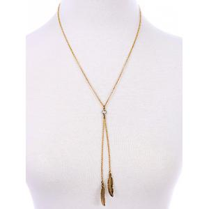 Bohemian Style Gold Plated Leaf Bolo Necklace -