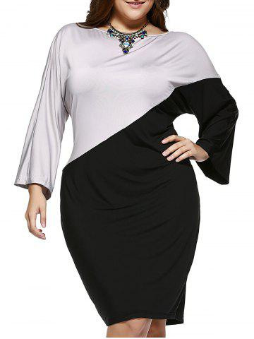 Hot Chic Plus Size Hit Color Comfy Dress