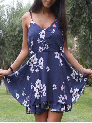 Outfit Spaghetti Strap Backless Cut Out Print Dress