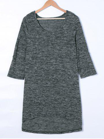 Affordable Scoop Neck 3/4 Sleeve T-Shirt