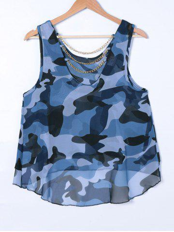 Outfit Chain Camouflage Print Tank Top