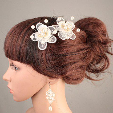 Discount Wedding Bride Artificial Pearl Headdress Flower Hairpin