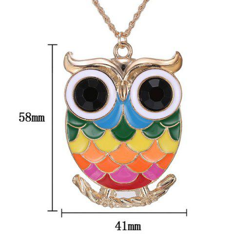 Store Owl Branch Glaze Pendant Sweater Chain - COLORMIX  Mobile