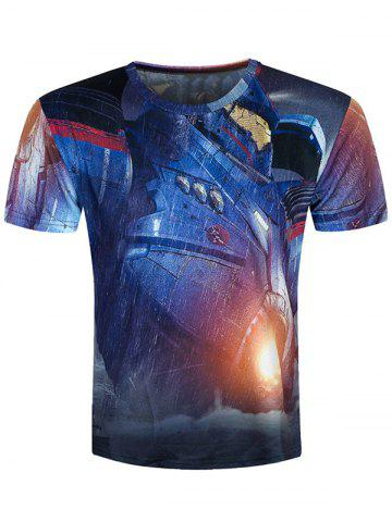 Outfit Short Sleeve 3D Machine Printed Cool T-Shirt