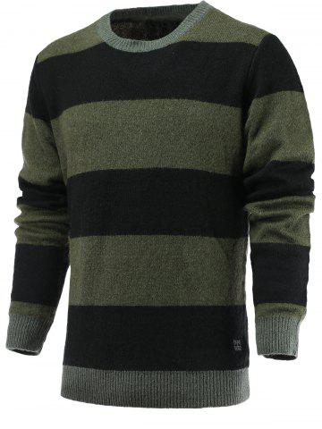 Chic Color Blocks Spliced Sweater